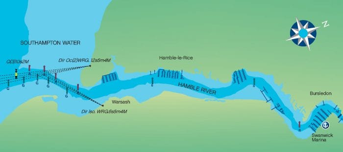 Hamble River Map